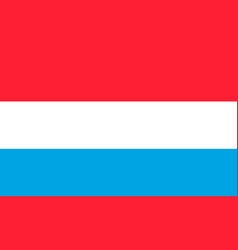 flag of luxembourg national symbol of the vector image