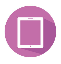 flat tablet icon tablet icon tablet symbo vector image