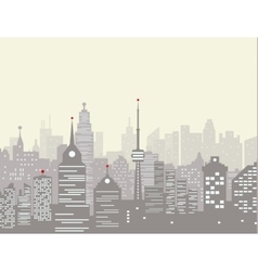 Foggy city skyline vector