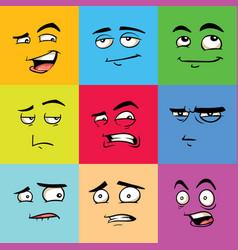 Funny avatars emoji flat set vector