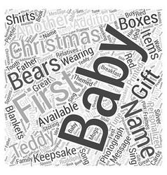 gift word cloud concept vector image