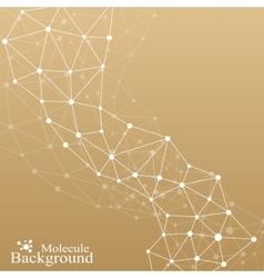 Golden graphic background molecule vector