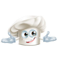 Happy white chefs hat cartoon man vector
