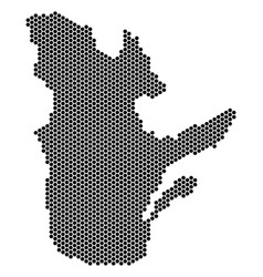 Honeycomb quebec province map vector