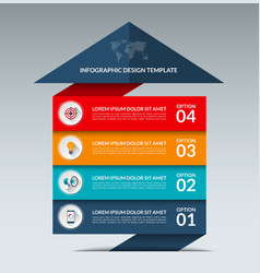Infographic arrow design template with 4 options vector image
