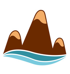 Isolated mountain icon vector