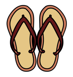 isolated pair of sandals vector image