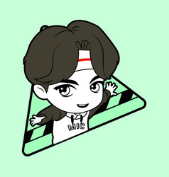Kpop boy 12 vector