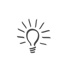 light bulb lamp line icon icon white background vector image