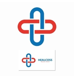 Medical cross logo vector