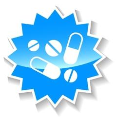 Medicine blue icon vector