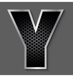 Metal grid font - letter y vector