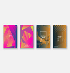 Modern business geometric template covers for vector