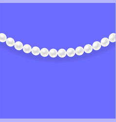 natural white pearl necklace vector image