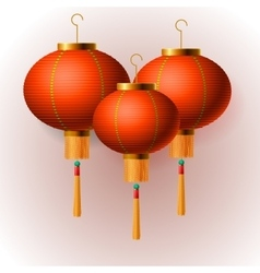Oriental Chinese New Year lanterns vector image