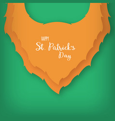 origami of the beard of leprechaun st patricks vector image