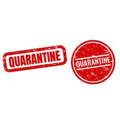 quarantine text set isolated white background vector image
