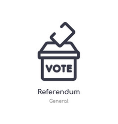 Referendum outline icon isolated line from vector