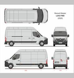 Renault master cargo delivery van l3h3 fwd 2020 vector