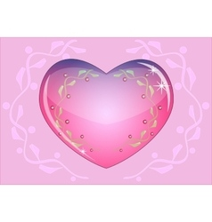 Romantic heart which symbolizes the loveEps10 vector