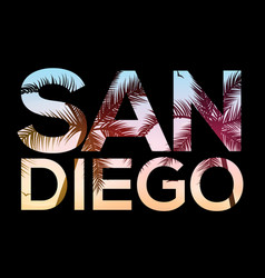 san diego california beach design t shirt retro vector image