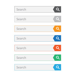 search bar field set interface elements with vector image