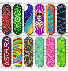 Skateboard skateboarders board for vector