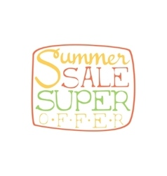 Super Sale Colorful Ad vector