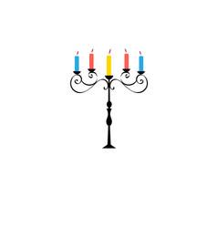 symbol a beautiful candlestick vector image