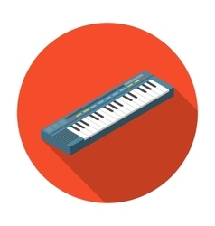 Synthesizer icon in flat style isolated on white vector image