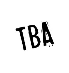 tba rubber stamp vector image
