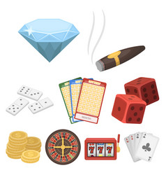the set of symbols casino games gambling for vector image