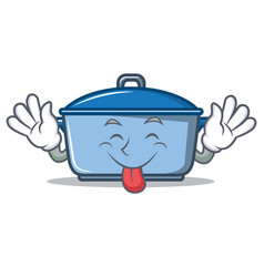 tongue out kitchen character cartoon style vector image