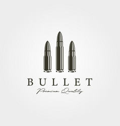 vintage bullets icon logo design cartridge object vector image