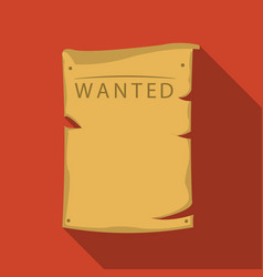 Wanted icon flate singe western icon from the vector