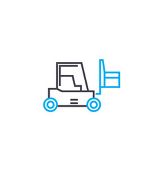 Warehousing linear icon concept warehousing line vector