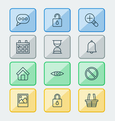 Web icons set collection of obstacle glance vector