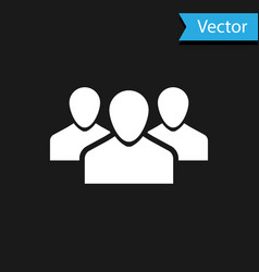 white users group icon isolated on black vector image