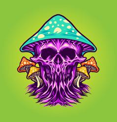 zombie scary magic mushrooms vector image