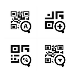 Zoom qr code design vector
