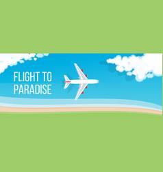 Air travel banner vector