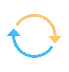 Arrow sign rotation icon reload symbol vector