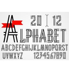 Black simple alphabet letters vector image