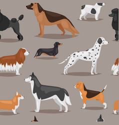 different dogs breed cute cub puppy whelp vector image vector image