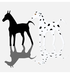 dog silhouettes vector image vector image