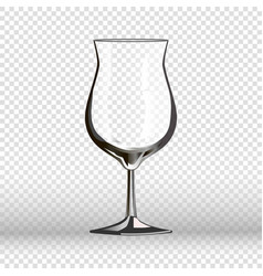 empty cocktail drinking glass isolated on vector image vector image