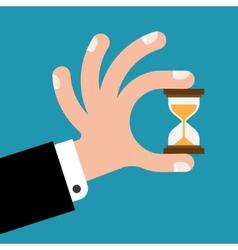 Hourglass in hands vector image vector image
