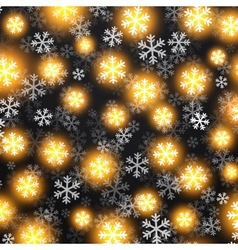 background with golden falling snow on black vector image