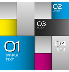 CMYK Squares vector image vector image