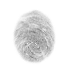 Fingerprint Isolated vector image